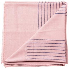 Classic Artisan-Made Handloom ROSEWOOD Merino Throw / Blanket  in Stripe Design