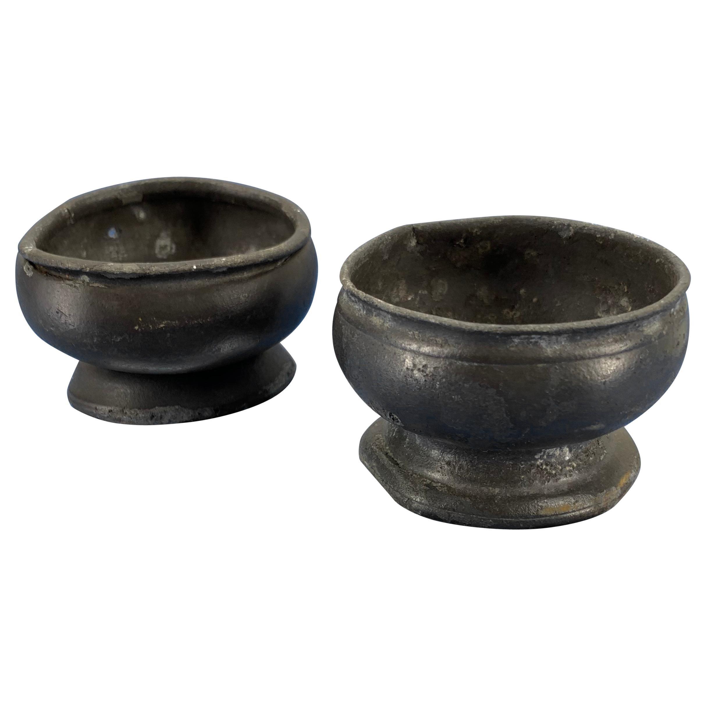 Pair Of Danish 18th Century Pewter Salt Cellars