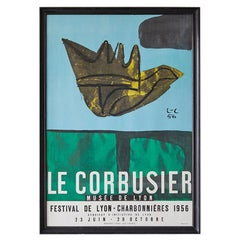 Vintage Exhibition Poster by Le Corbusier