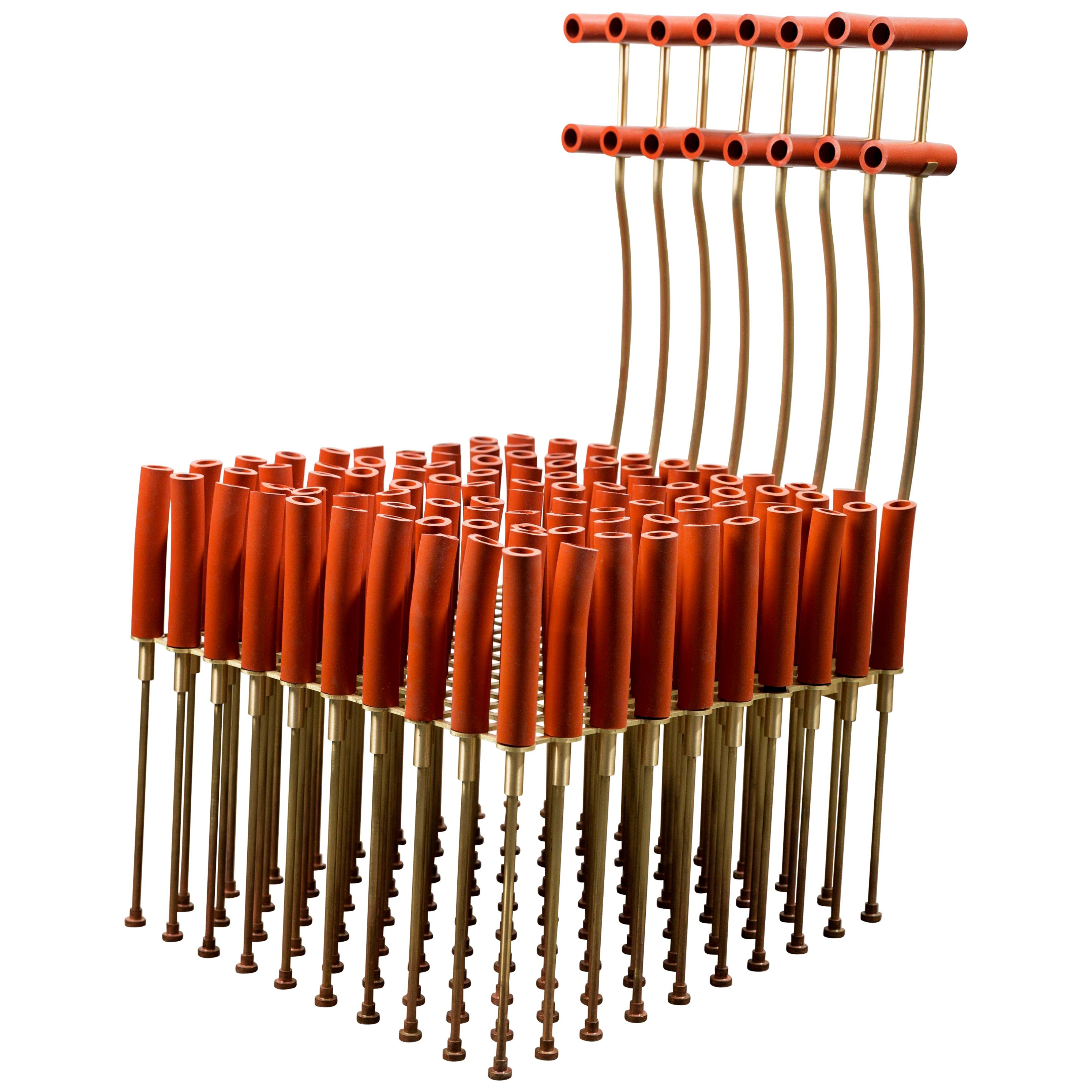 Chair with Tubes and Brass