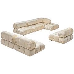 """Mario Bellini """"Camaleonda"""" modulares Sofa in Elfenbein weißer Stoff neu bezogen"""