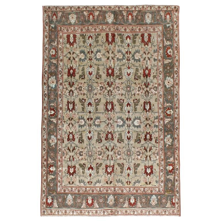 Antique Persian Tabriz Carpet For Sale