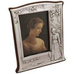 1904 Antik Edwardian Sterling Silber Foto Frame