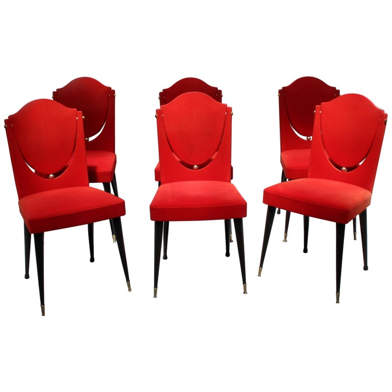 Unusual Dining Chairs: Set Of 6 Unusual French 1960s Dining Chairs For Sale At