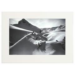 Alpine Ski Photograph, 'VIRGIN POWDER', Taken from Original 1930s Photograph