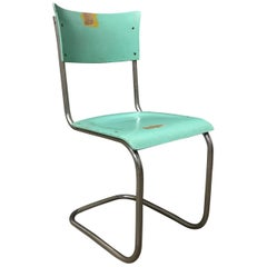 1931, Mart Stam for Thonet, Turquoise Wooden S43