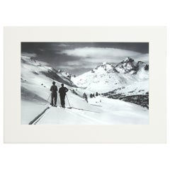 Alpine Ski Photograph, 'Panoramic View', Taken from Original 1930s Photograph