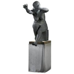 "Bronze sculpture ""The unique moment"" by Nat Neujean"