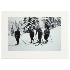 Alpine Ski Photograph, 'BEND ZIE KNEES', Taken from Original 1930s Photograph