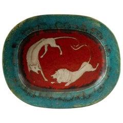 Italian Ceramic Art Platter by Eugenio Pattarino
