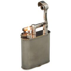 Silver Plated Dunhill 'Giant' Lighter with Engine Turned Finish, circa 1948