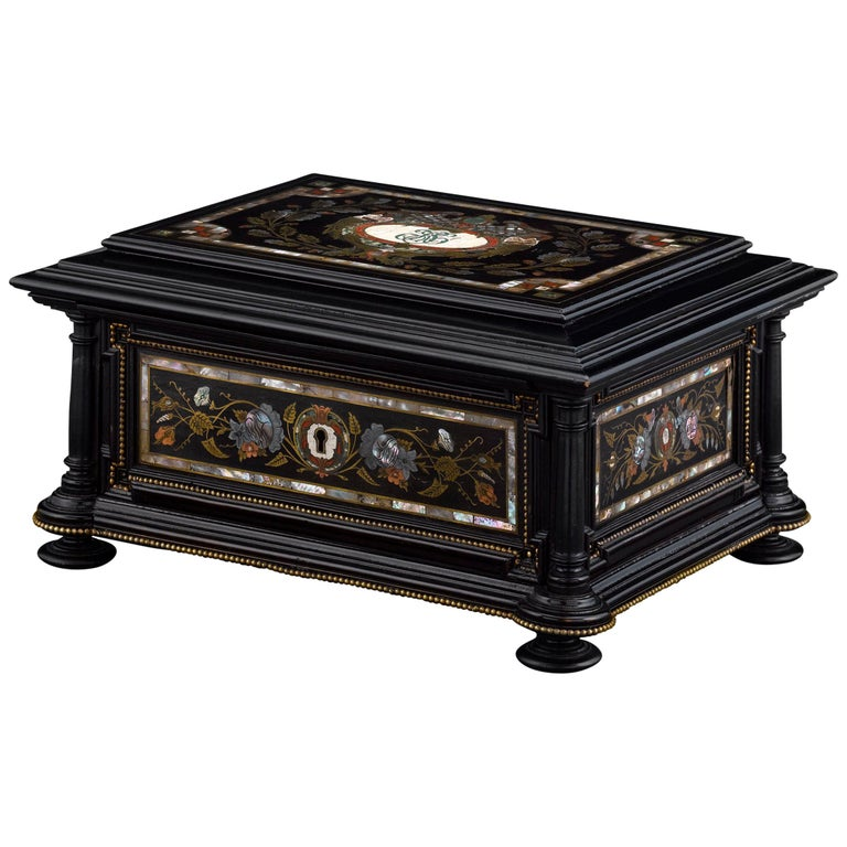 Musical Jewelry and Sewing Casket For Sale