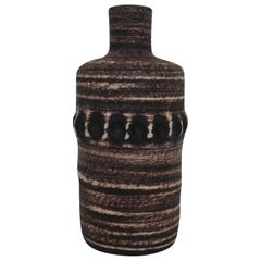Mid Century Glazed Ceramic Bottle Vase by Accolay France 1960s