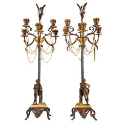 Pair of Neo-Greek Candelabra by F. Barbedienne and F. Levillain