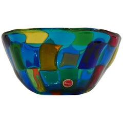 Ballarin Italian Murano Glass Pezzatto Bowl in the Style of Bianconi Venini