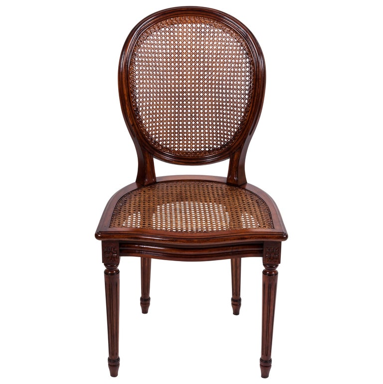 20th Century Set of Six Louis XVI Style Dining Chairs For Sale