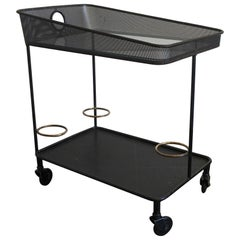 "Mathieu Mategot ""Venise"" Serving Cart, Trolley in Perforated Metal, France 1956"