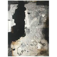 Kennan Del Mar 'Abstract IX' Painting, Mixed Media on Canvas