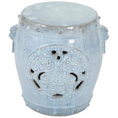 Light Blue Chinese Garden Seat
