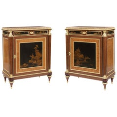 Unrivalled Pair of 19th Century Cabinets with Lacquer Panels