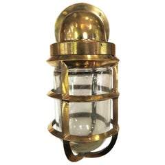 Heavy Duty Polished Industrial Brass Nautical Ship Light Sconce