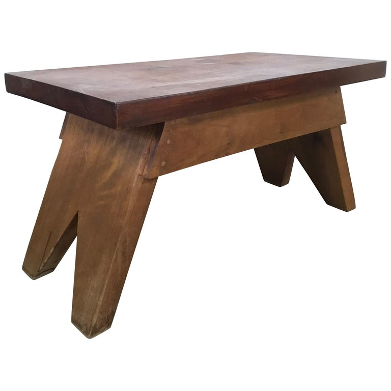 Jeanneret Style Table For Sale
