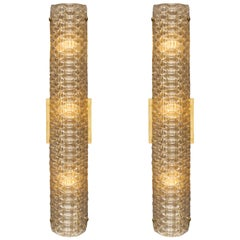 Modernist Murano Glass Textured Sconces