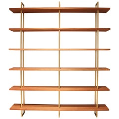 Garrison Floating Shelves in Bronze with Sapele Wood