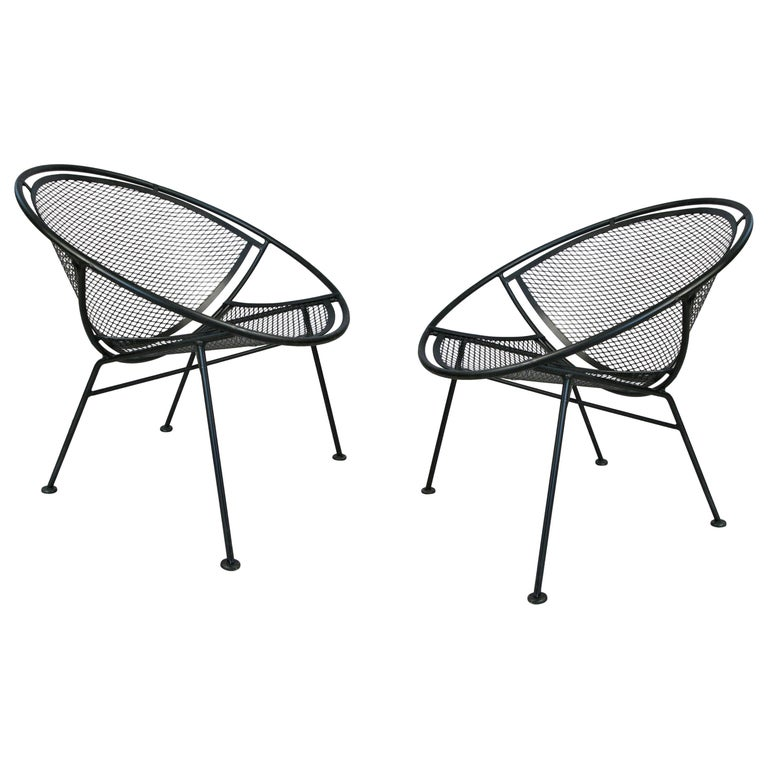 Pair of Salterini 'Radar' Collection Lounge Chairs by Tempestini For Sale