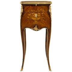 French 19th Century Louis XV Style Tulipwood, Kingwood and Ormolu Side Table