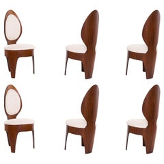 Henry Glass Walnut 'Spoon' Dining Chairs