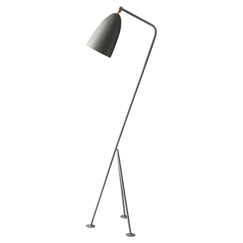 Greta Magnusson Grossman 'Grasshopper' Floor Lamp in Dusty Blue