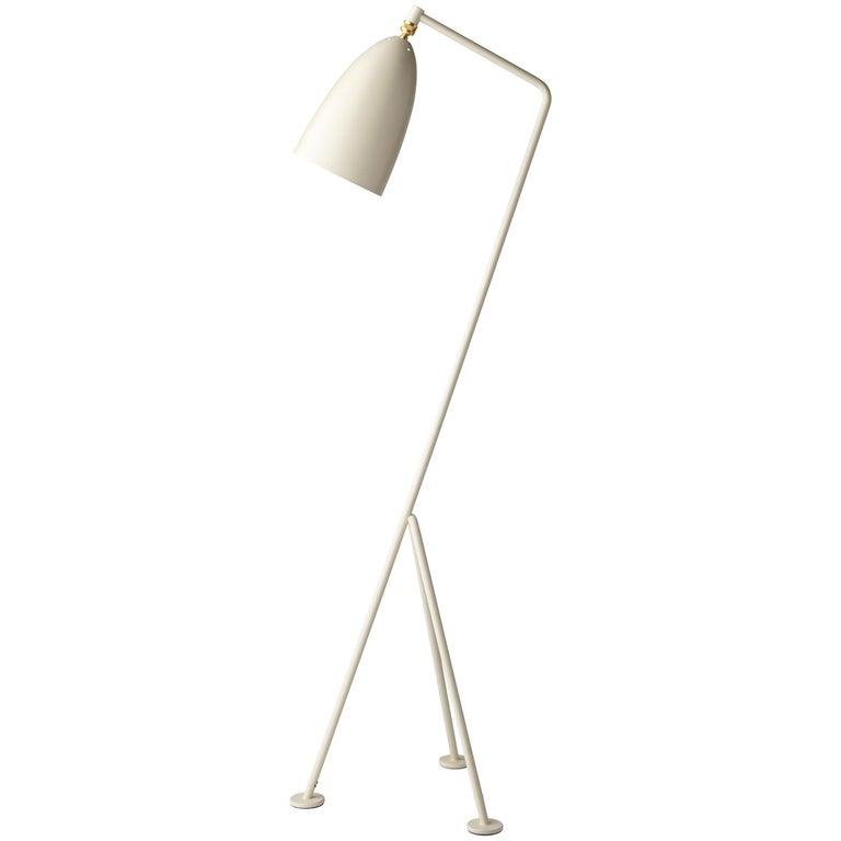 Greta Magnusson Grossman 'Grasshopper' Floor Lamp in Oyster White For Sale
