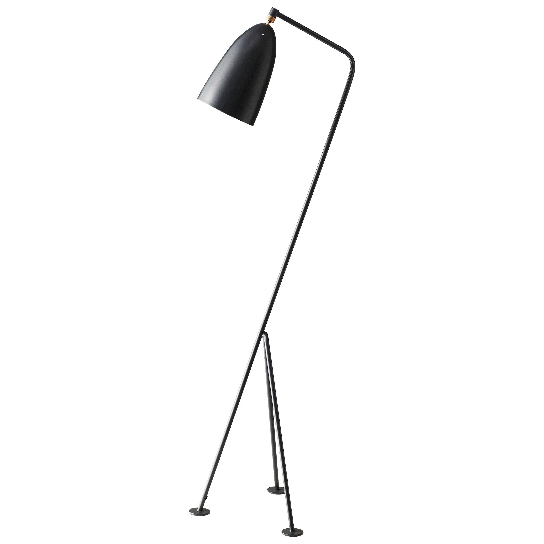 Greta Magnusson Grossman 'Grasshopper' Floor Lamp in Anthracite Gray