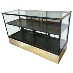 Early 20th Century Display Case Vitrine with Marble Base, American Show Case Co