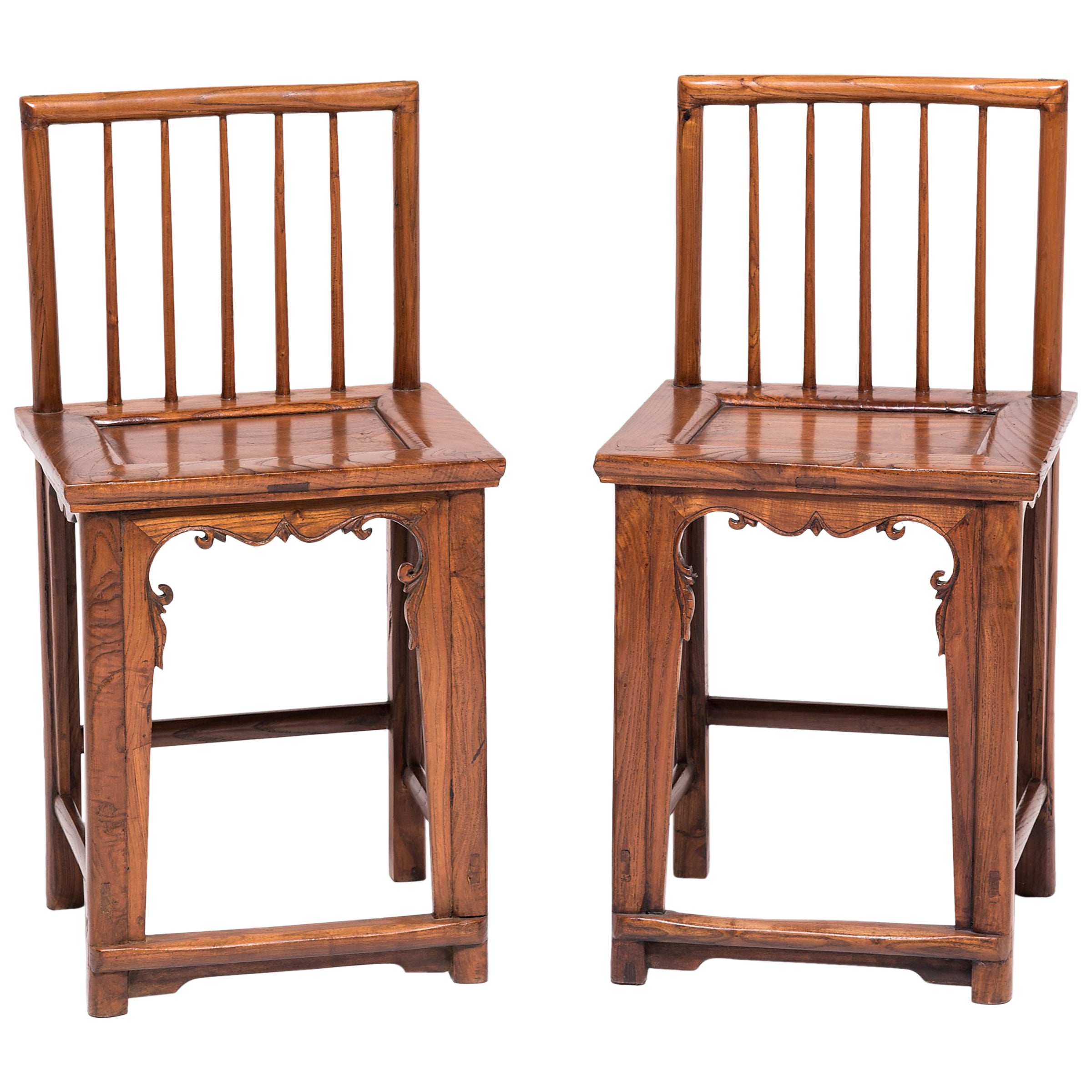 Pair of Early 20th Century Chinese Spindleback Chairs