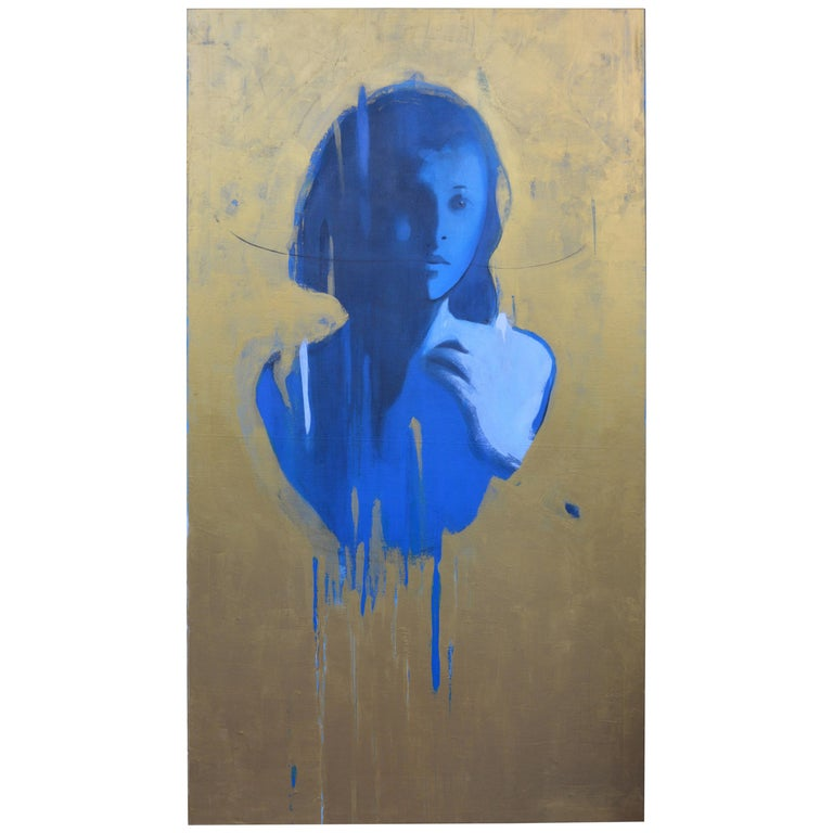 Face in Blue by Jorge Santos For Sale