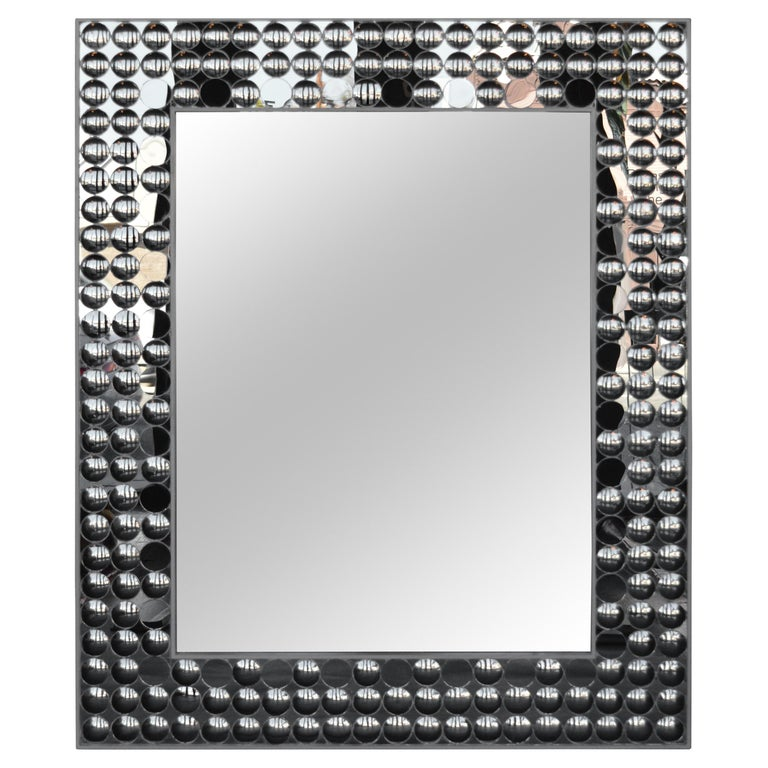 Mirror with Small Covex Mirror Details For Sale