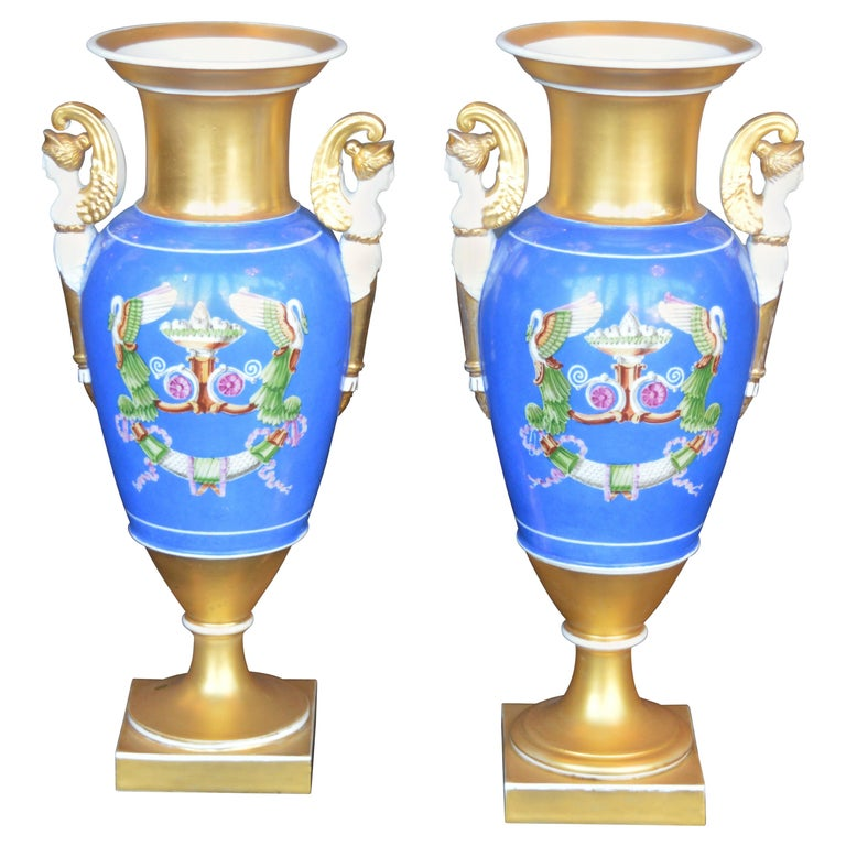 Pair of Porcelain Vases For Sale