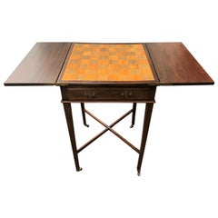 Small Drop Leaf Game, Occasional Side Table, circa 1920