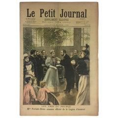 Historical 1896 French Memorabilia LPJournal Legion of Honor/Bombe in Barcelona