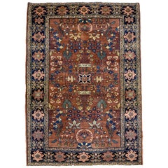 Antique Farahan Persian Carpet circa 1880 in Pure Handspun Wool