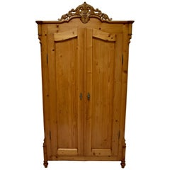 Pine Louis-Philippe Style Two-Door Armoire