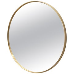 Circular Mirror in Satin Finished Brass
