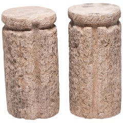 Pair of Early 20th Century Cinched Chinese Mill Stones