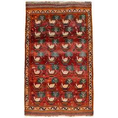 Vintage Qashqai Kashkouli Persian Carpet circa 1940 in Pure Handspun Wool