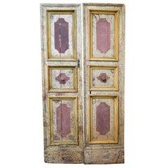 Pair of Venetian Hand Painted Doors