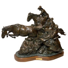 "Western Bronze Titled ""Deep Catch"" by Herb Mignery"