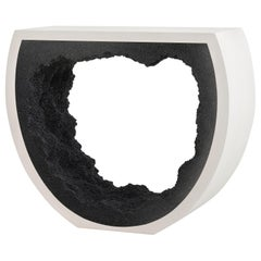 Baby Radius Console, Cement and Black by Fernando Mastrangelo, 1stdibs New York