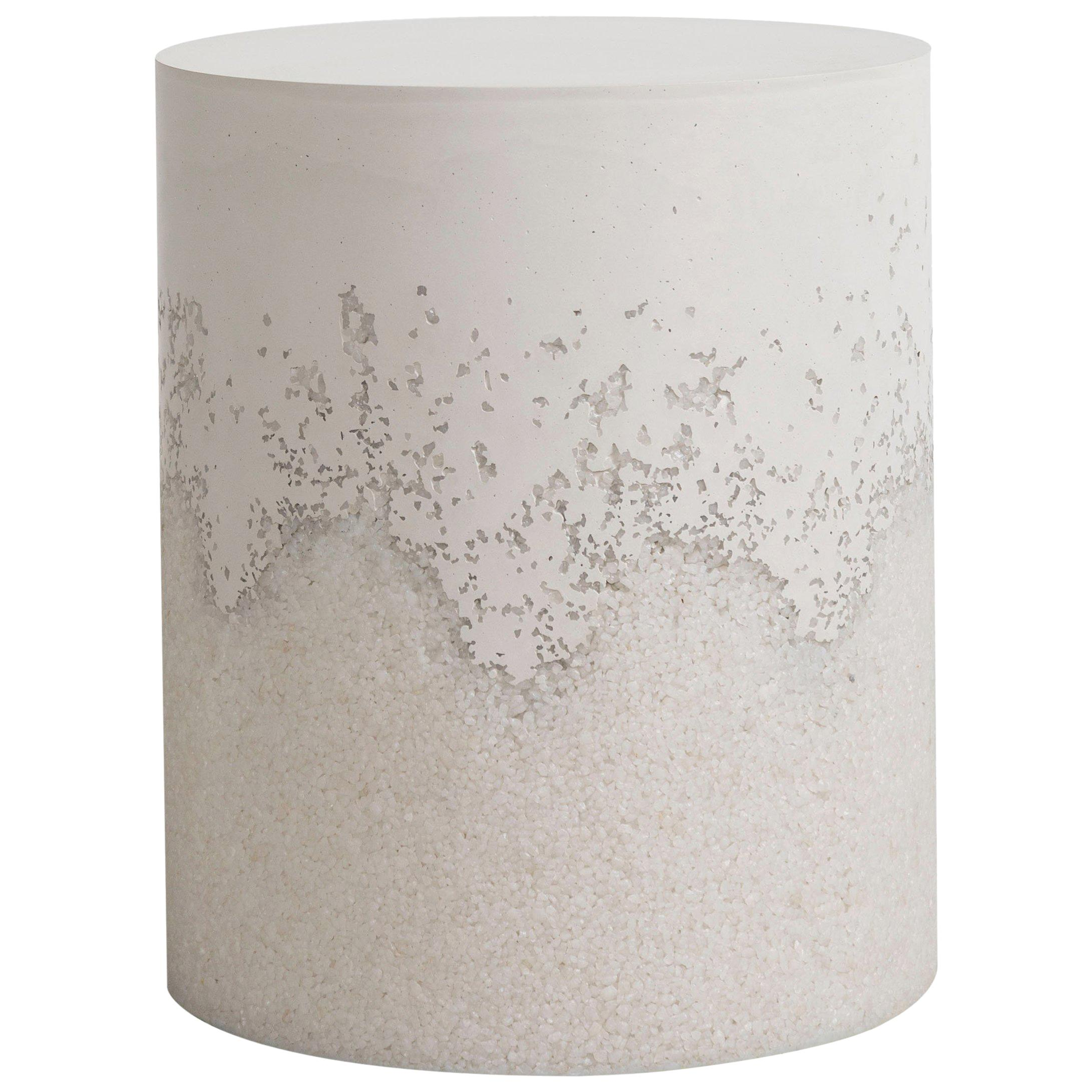 Drum, White Cement and Crystal Quartz by Fernando Mastrangelo, New York